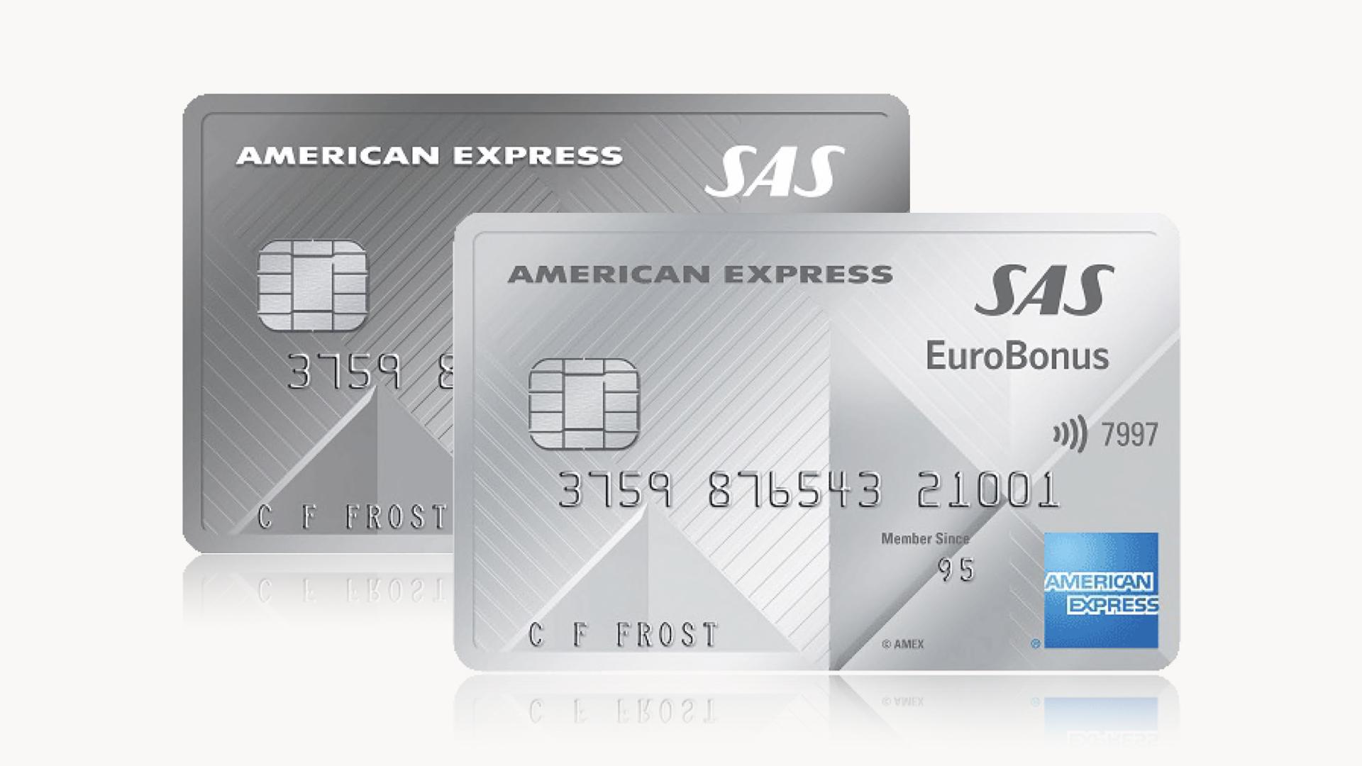 American Express SAS Eurobonus-Kreditkortet om du vill resa mycket och billigt